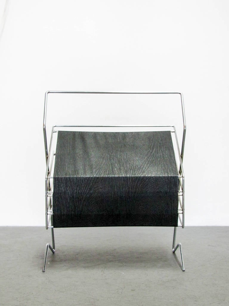 Plated German 1960s Magazine Rack For Sale