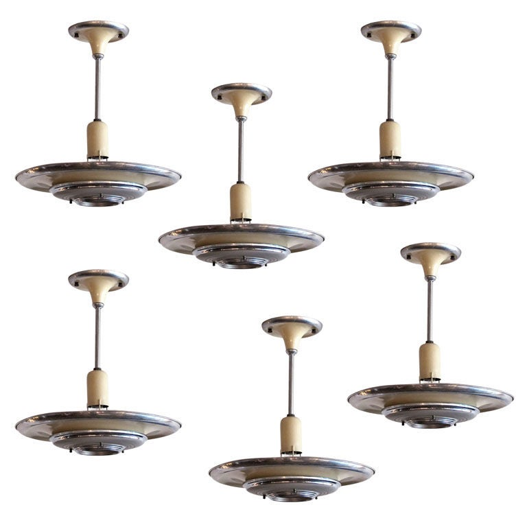 Set of 3 Silvray Ceiling Lights 1