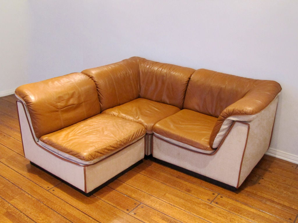 Finnish Modular Leather Sofa image 5