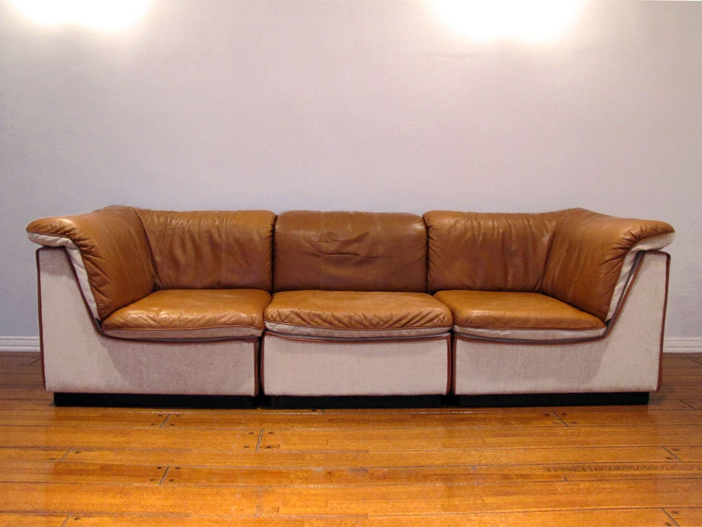 Finnish Modular Leather Sofa At 1stdibs