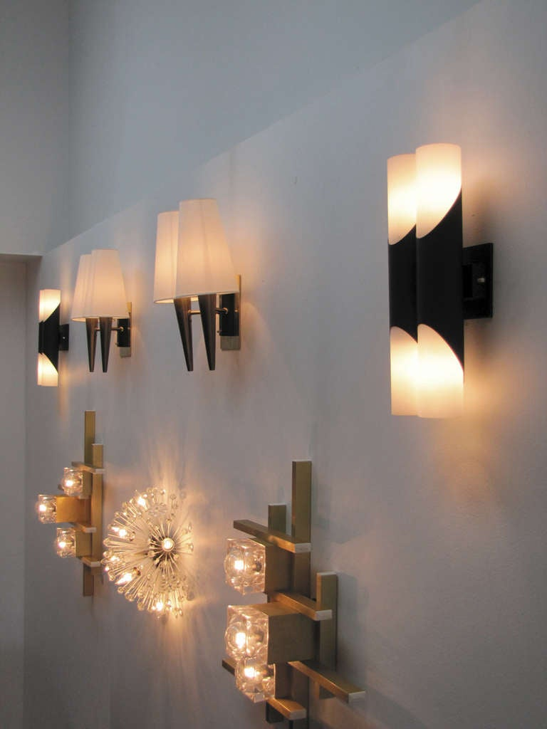 Pair of German Double Wall Lights at 1stdibs