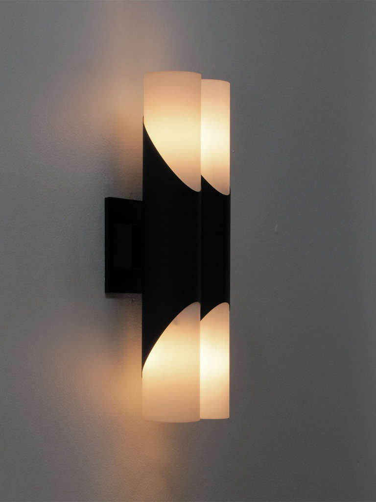 Double Wall Lights Bhs : Pair of German Double Wall Lights at 1stdibs