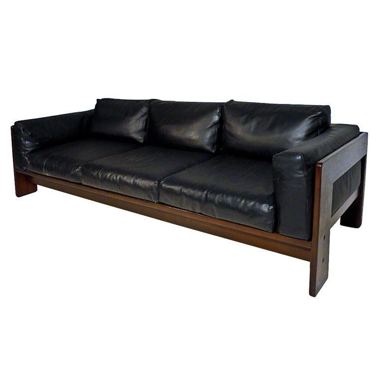 Tobia Scarpa Leather Sofa
