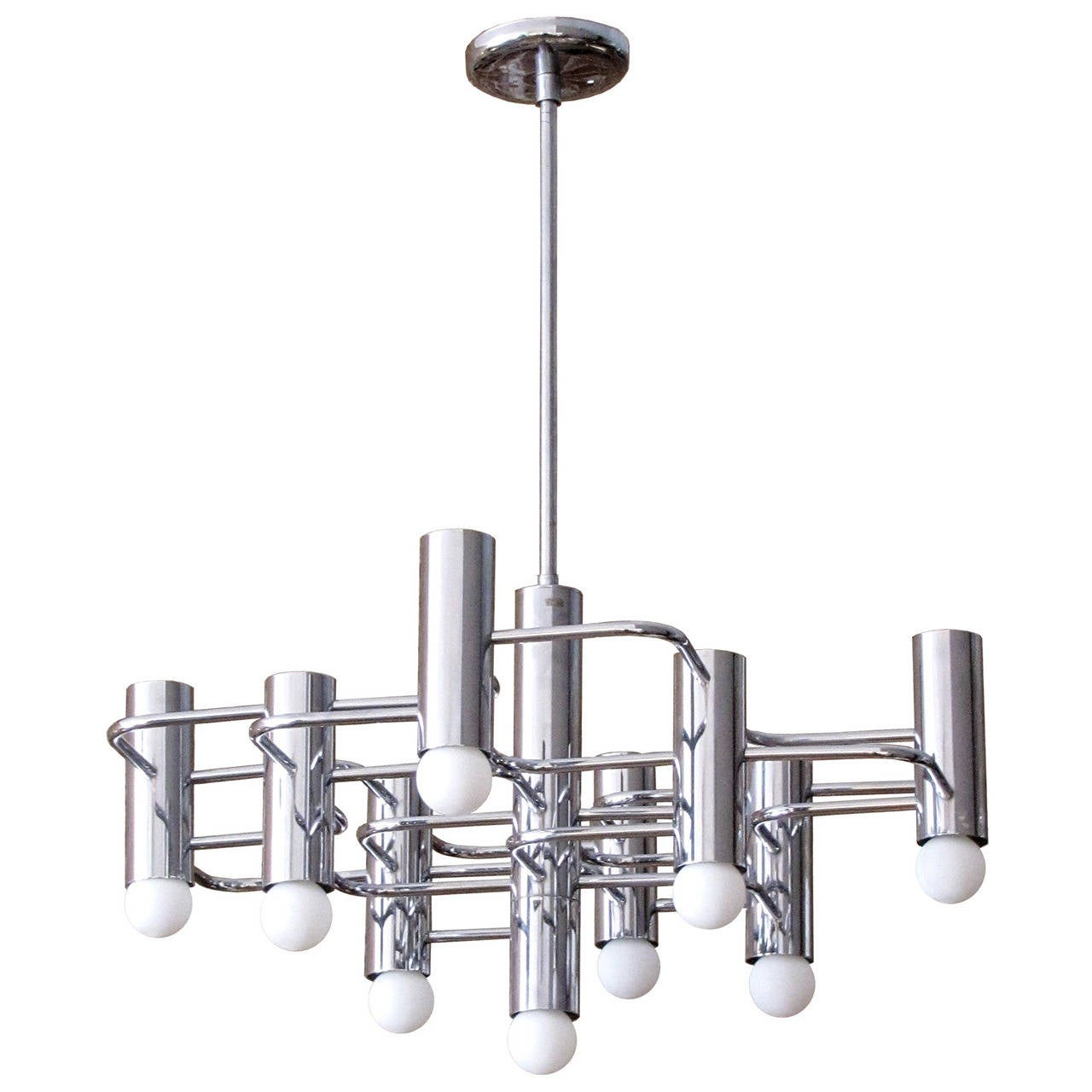 Boulanger chrome chandelier 1960 for sale at 1stdibs boulanger chrome chandelier 1960 for sale aloadofball Image collections