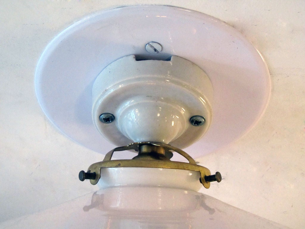 French Milk Glass Wall Lights at 1stdibs