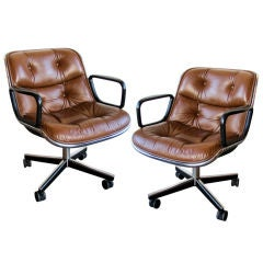 Pair of Charles Pollock Executive Armchairs