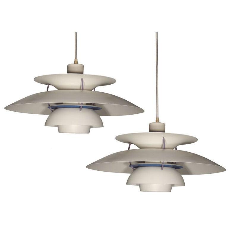 louis poulsen ph5 hanging lights at 1stdibs. Black Bedroom Furniture Sets. Home Design Ideas