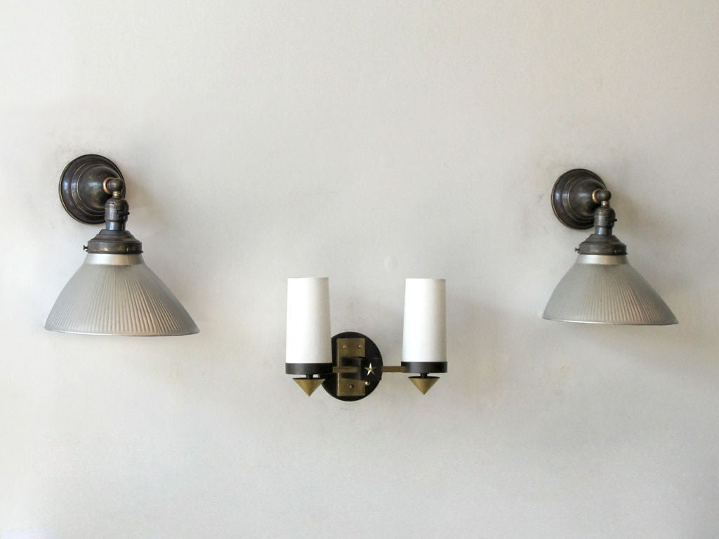 Mercury Glass Wall Lights : Pair of Mercury Glass Wall Lights For Sale at 1stdibs
