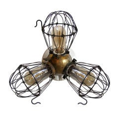 Industrial Triple Cage Lights