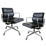Three Charles & Ray Eames Soft Pad Desk Chair for IBM