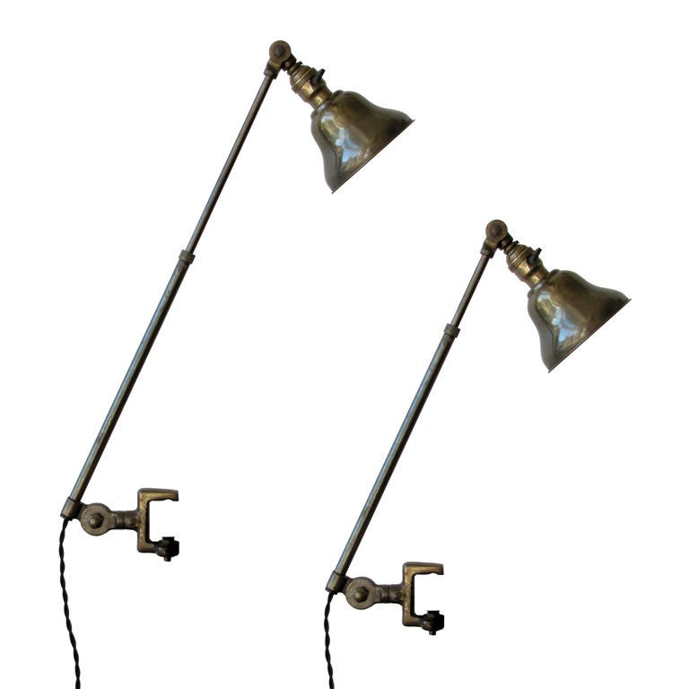 Pair of Industrial Task Lamps
