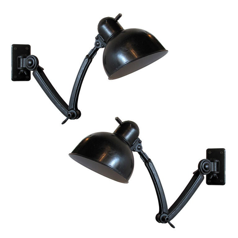 pair of kaiser idell wall lamps no 6716 for sale at 1stdibs. Black Bedroom Furniture Sets. Home Design Ideas