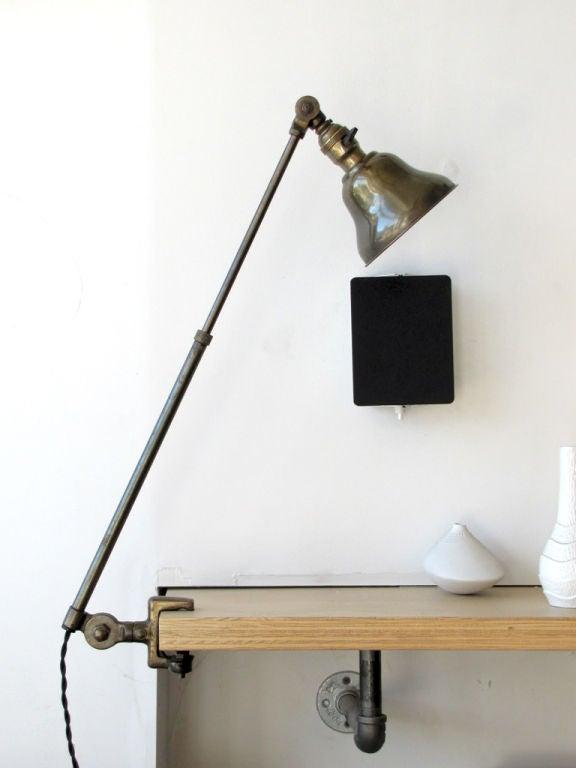 Bauhaus Pair of Industrial Task Lamps For Sale