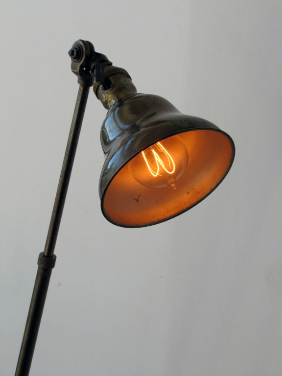 Pair of Industrial Task Lamps For Sale 1