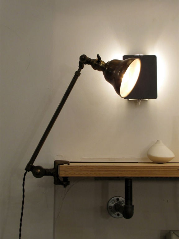 Pair of Industrial Task Lamps For Sale 2