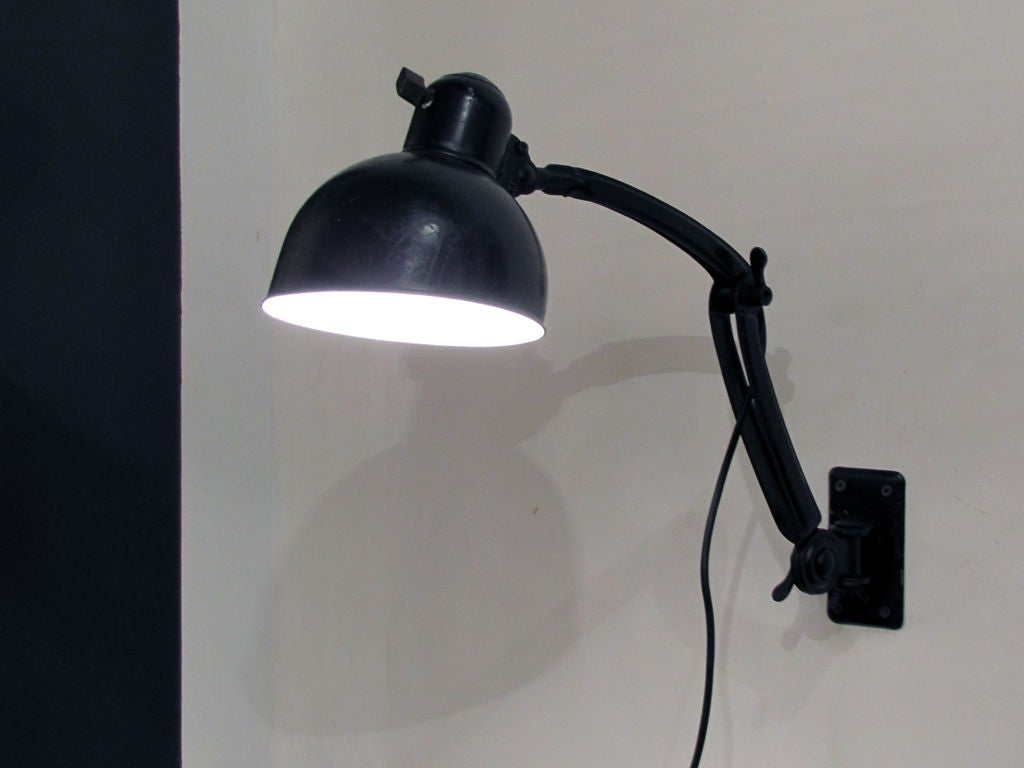 No Earth On Wall Lights : Pair of Kaiser Idell Wall Lamps No. 6716 at 1stdibs