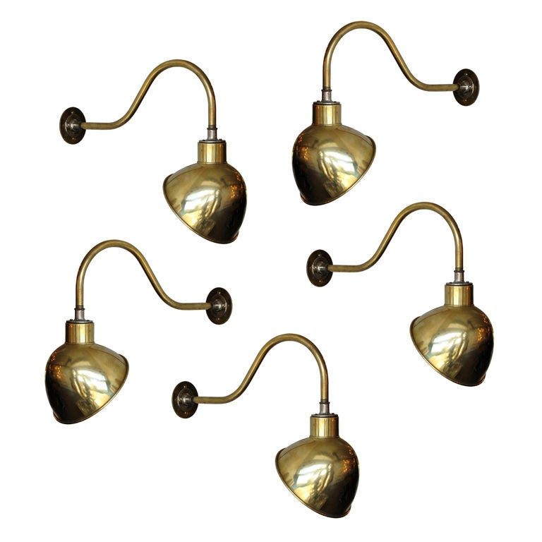 Wall Lamps Brass : French Brass Wall Lamps at 1stdibs