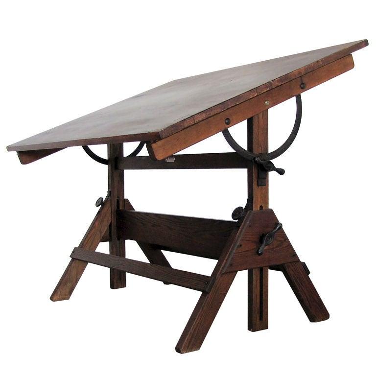 Hamilton Adjustable Drafting Table For Sale