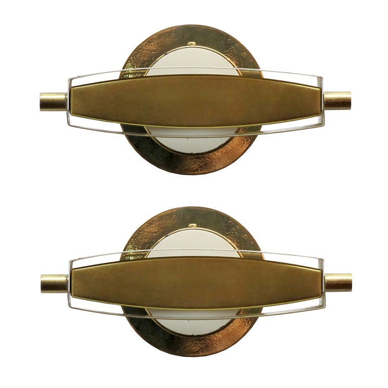 Pair of Jacques Biny Sconces
