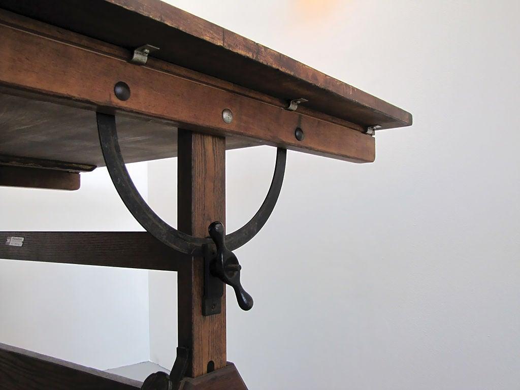 hamilton adjustable drafting table at 1stdibs