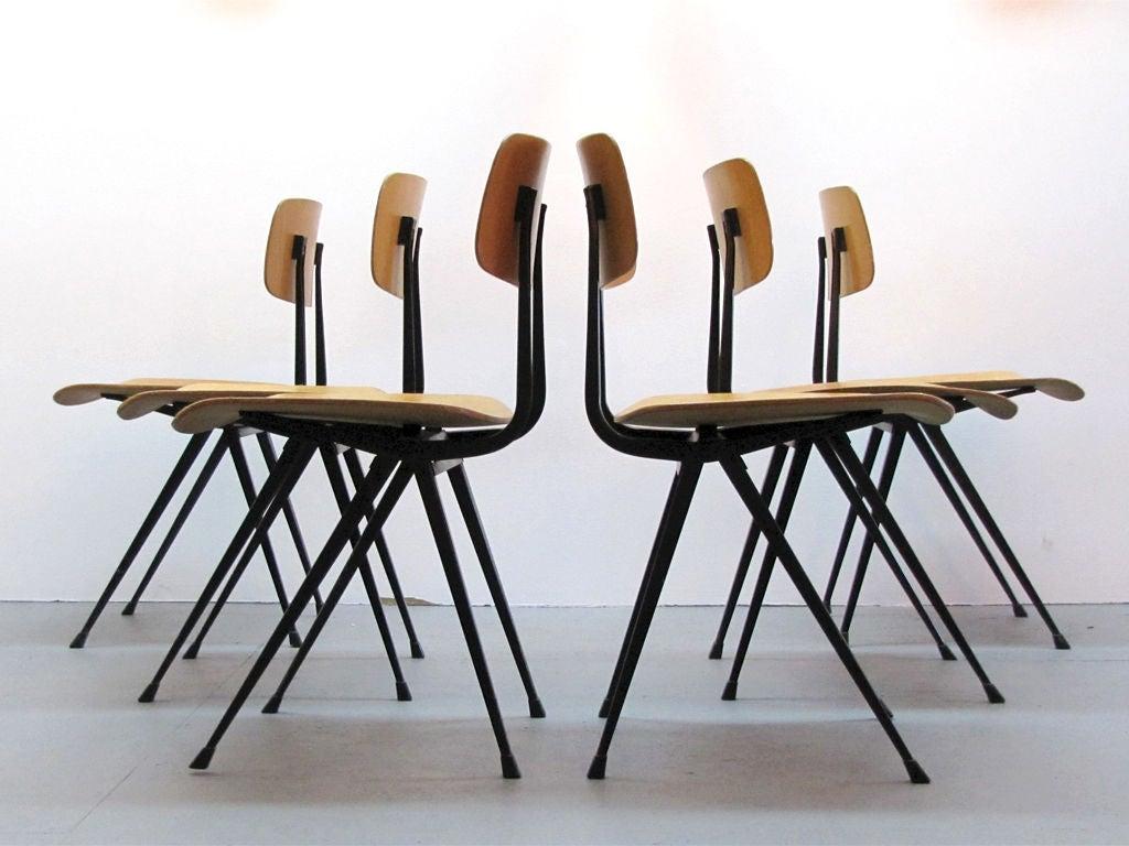 Set of six friso kramer result chairs at 1stdibs - Kamer dining ...