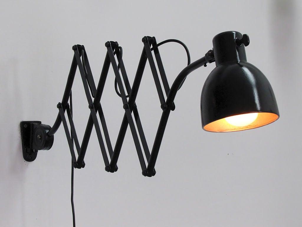 Industrial Scissor Wall Lights : German Industrial Scissor Lamp For Sale at 1stdibs