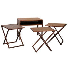 Set of Three Folding Tray Tables by Selig
