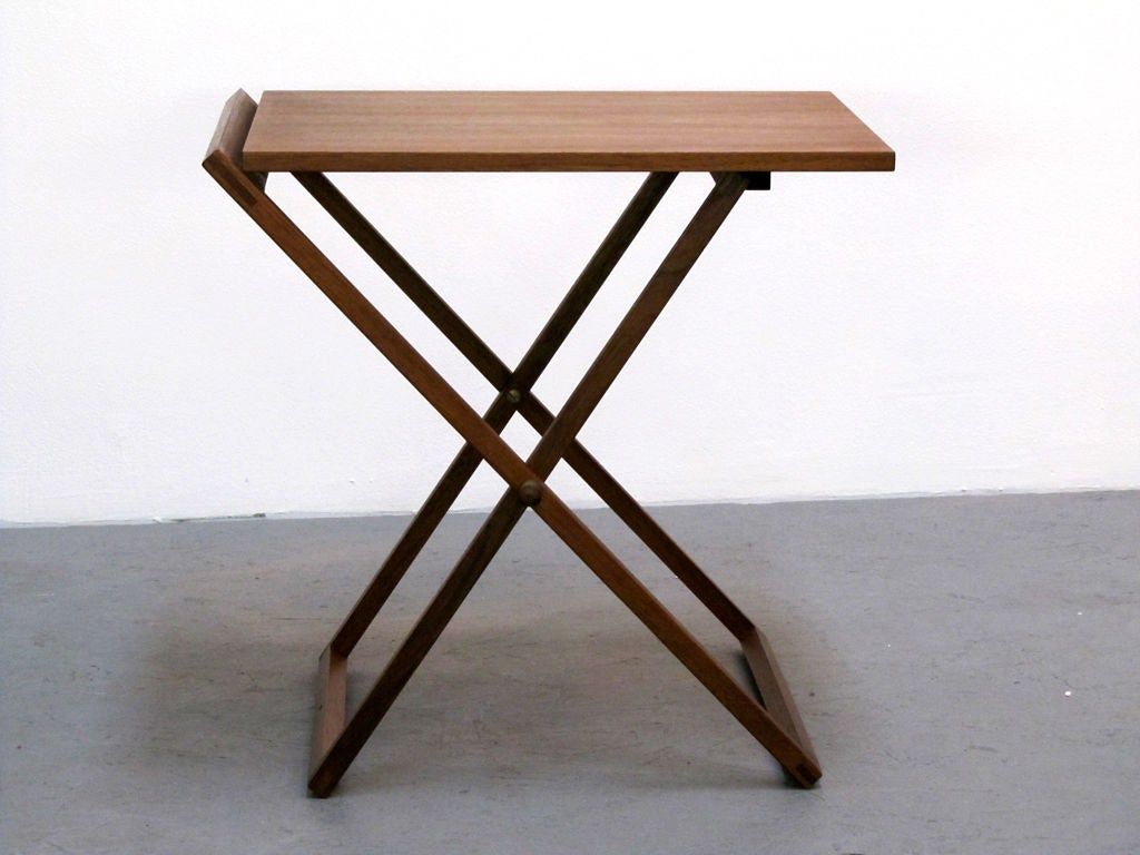 Set Of Three Folding Tray Tables By Selig At 1stdibs