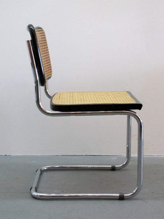 pair of marcel breuer s32 cesca side chairs at 1stdibs. Black Bedroom Furniture Sets. Home Design Ideas