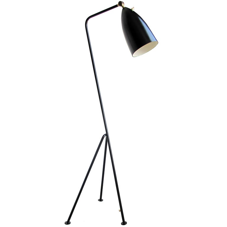 greta magnusson grossman grasshopper floor lamp at 1stdibs. Black Bedroom Furniture Sets. Home Design Ideas