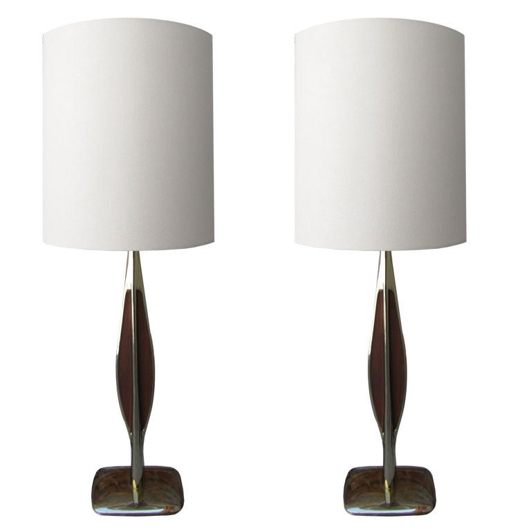 Pair of Laurel Table Lamps For Sale