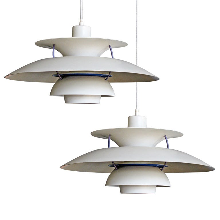 ph5 pendant by poul henningsen at 1stdibs. Black Bedroom Furniture Sets. Home Design Ideas