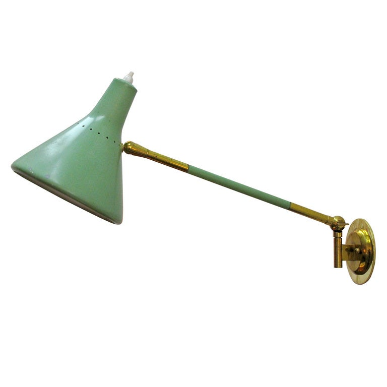 Gentil Stilux Swing Arm Wall Lamp For Sale