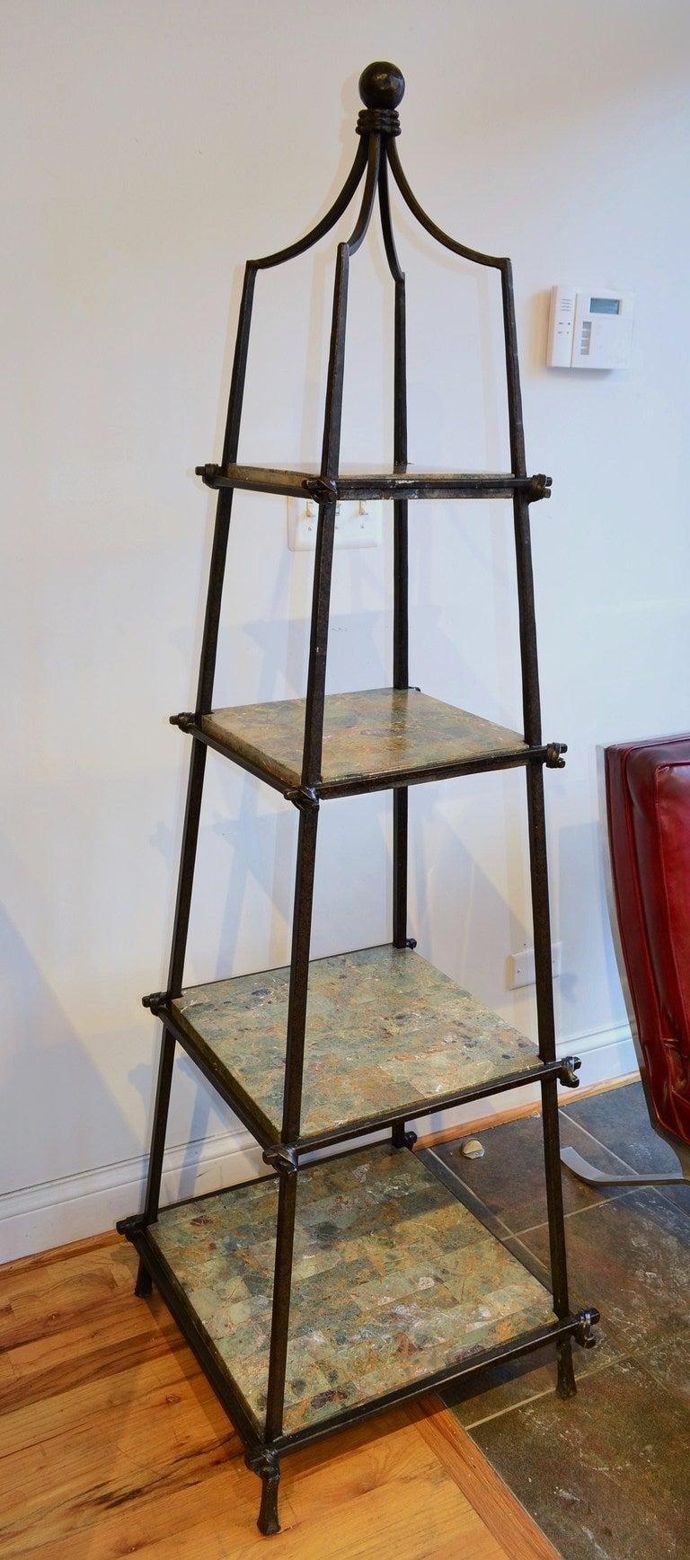 Couleur Pour Une Cuisine Moderne : Iron Obelisk Form Etagere at 1stdibs