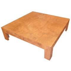 Monumental Burled Wood Coffee Table by Milo Baughman for Thayer Coggin