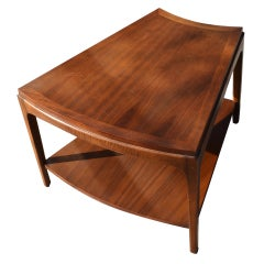 Wedge Shaped Two tier Side Table