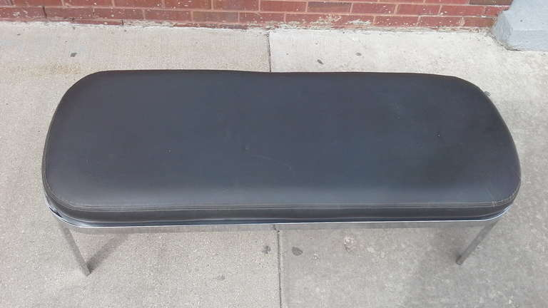 Chrome Bench by Design Institute of America  In Excellent Condition For Sale In Chicago, IL