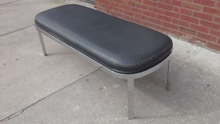 American Chrome Bench by Design Institute of America  For Sale