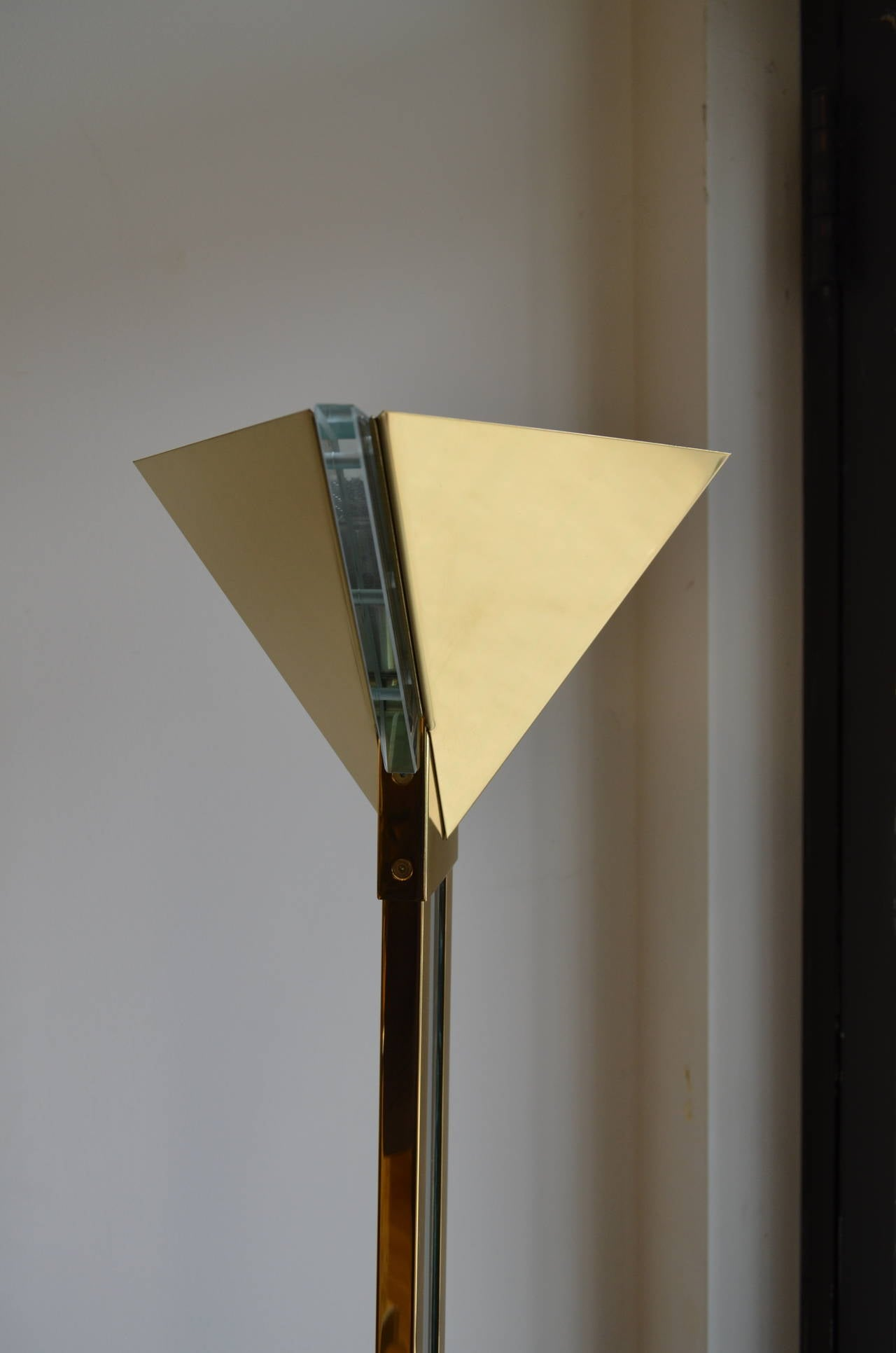 brass and lucite george kovacs floor lamp at 1stdibs. Black Bedroom Furniture Sets. Home Design Ideas