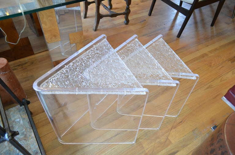 Superior Set Of Three Lucite Nesting Tables 3