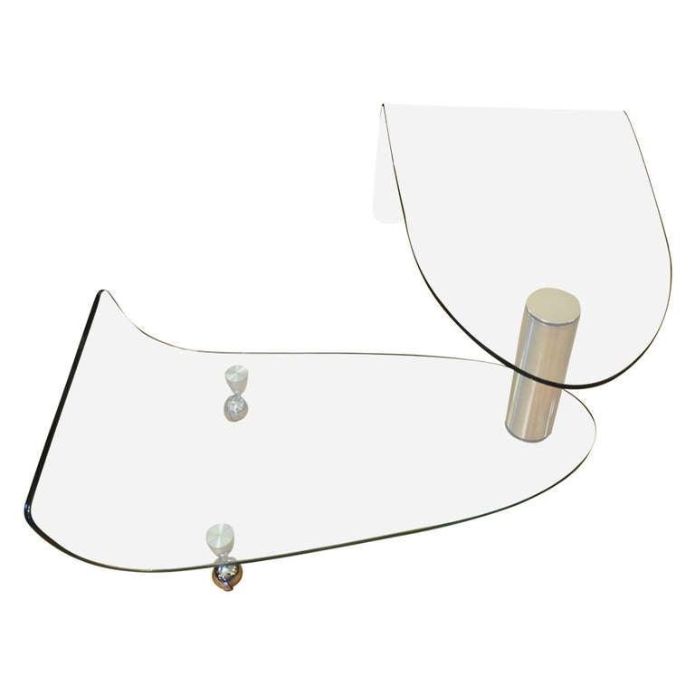 Fiam Italia Articulating Glass Swivel Coffee Table For
