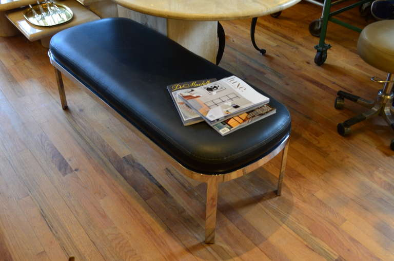 Chrome Bench by Design Institute of America  For Sale 1