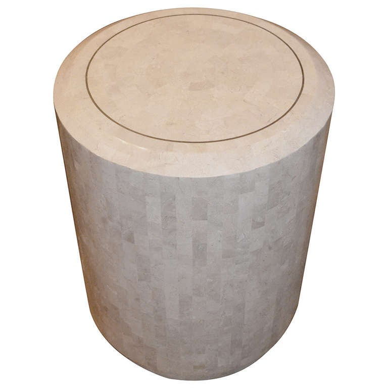 Vintage Maitland Smith Tessellated Stone Side Table 1