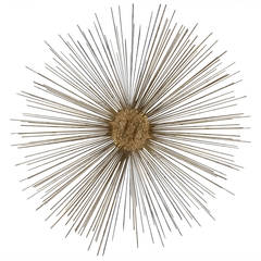 Curtis Jere Style Starburst Wall Sculpture by Bruce & William Friedle