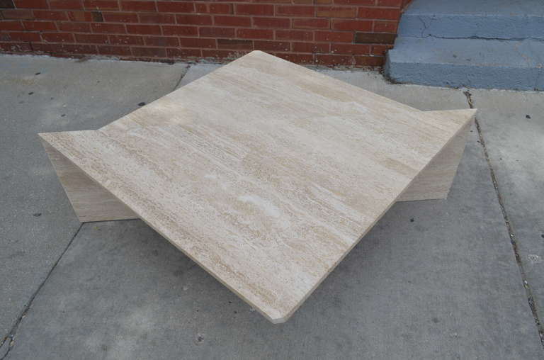 Italian travertine coffee table at 1stdibs for Coffee tables 16 inches high