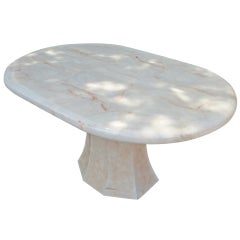 Oval Onyx Pedestal Dining Table