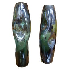 Pair of Italian Glass Vases