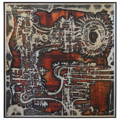 Aluminum Acid Etched Bernhard Rohne Wall Art