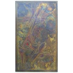 Bernhard Rohne Brass Acid Etched Wall Art