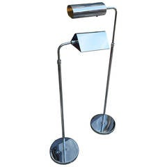 Koch & Lowy Adjustable Chrome Floor Reading Lamp